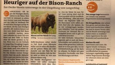 Heuriger auf der Bison Ranch