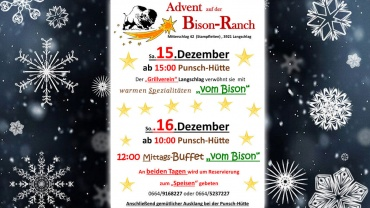 Advent im Bison Ranch Heurigen
