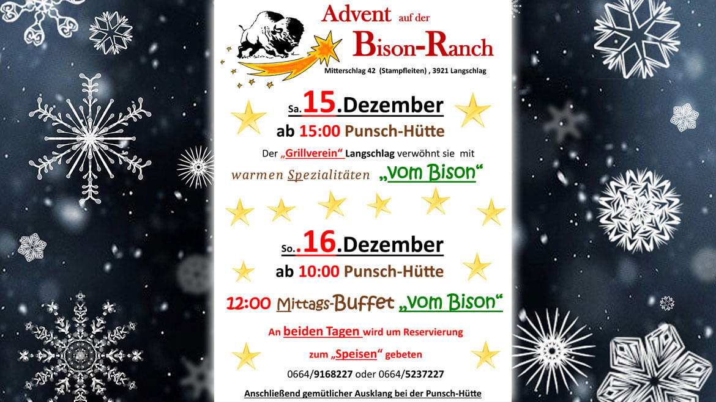 Advent im Bison Ranch Heurigen