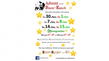Advent auf der Bison-Ranch 2019